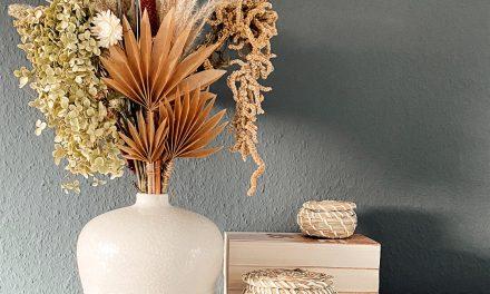 DIY Trockenblumen Palmenblatt aus Papier