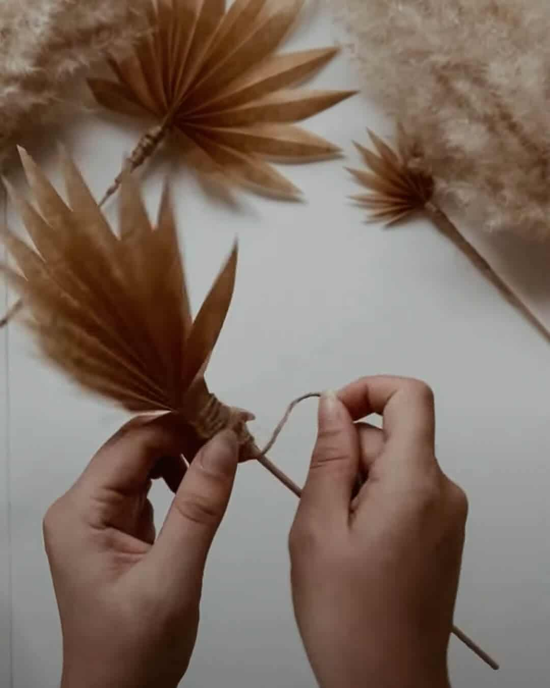 Easy DIY - Dried Paper Palm Leaf | Createbeautifulthings