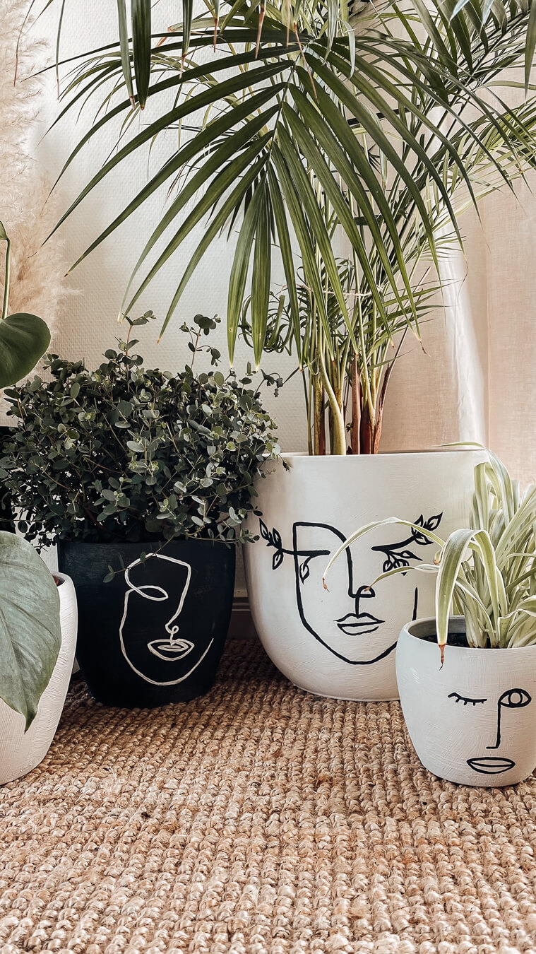 Easy Line-Art Pottery Makeover | Createbeautifulthings