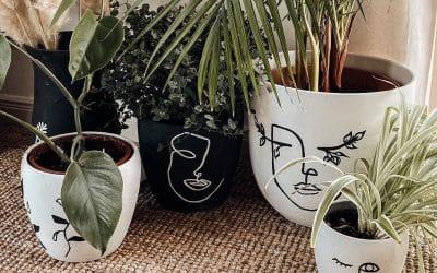 Einfaches Line-Art Blumentopf Makeover