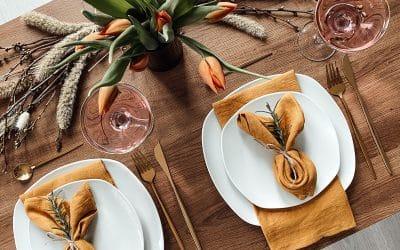 Tischdeko für Ostern – Osterservietten falten